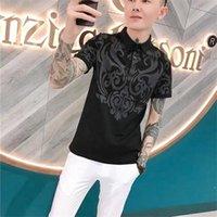 2021 Summer 100% Cotton Shirt Men's Printed Casualshort Sleeve