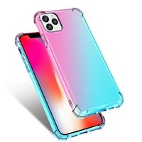 Phone Cases Gradient Colors Anti Shock Airbag Clear TPU Cases For iPhone 12 Mini 11 Pro Max XS 8 7Plus 6S Free Shipping