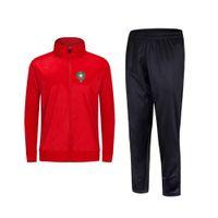 2021 Марокко Новый стиль футбольный мужской куртка с брюками спортивные носить футбольный трексуит для взрослых детская одежда набор