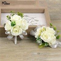 Silk Rose Flower Groom Boutonniere Wedding Decor Mariage Corsage Boutonniere цветы для лучшего мужчины Bridal браслет запястья Цветы1