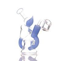 Wasserhaare Mini Tornado Percolator Glas Bong 5 Zoll Recycler DAB Rig mit Quarz Banger oder Bowl Wasserleitung