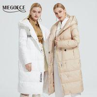 Kış Kadınlar Pamuk 201.109 İçin MIEGOFCE Yeni Kış Kadın Pamuk Ceket Uzun Ceket Kalın Yeni Elbise Parka Kadın Coat Ceket