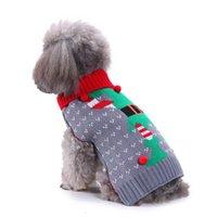 15 estilos Perro de mascotas Papá Noel Disfraces de Navidad Abrigos de Navidad Partido Divertido Ropa de decoración de vacaciones para Sudaderas de PET GWA7499