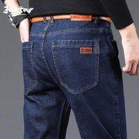 Erkekler Marka Stretch Jeans Erkekler 2020 Yeni İş Casual Slim Fit Denim Pantolon Siyah Mavi Pamuk Pantolon Jeans Erkek Artı boyutu 40