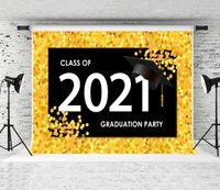 Clase de 2021 Fondo de graduación Fondo Foto de fondo oro amarillo de graduación Temporada de fotografía Fondos de fotografía para estudiantes PROM DE PIEZA DE PROMO