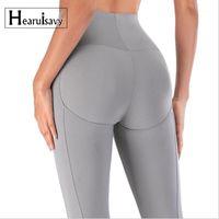 Hearisavy Leggings High Cintura Cintura Levantando Esporte Leggings Gym Push Up Yoga Calças Fitness Running Calças Mulheres Apertado Pants1