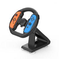Controller di gioco Joysticks JoyCon Sterzo Sterzo Corsa Maniglia Steer Wheel Supporto per Switch -CON Controller Gamepad Mano Grip Stand Support1