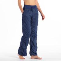 2019 Sıcak Stüdyo Pantolon kadın Spor Tayt Spor Sweatpants Pantalon Femme Yoga Açık Stüdyo Pantolon Jogging Yoga Pantolon