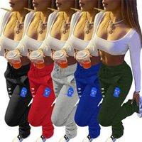 Femmes Pantalons Sport Fitness Pantalons jogging Imprimé cordonnet Pile leggings Pile en vrac Pantalons épais Casual Hot Vente D180