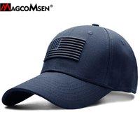 MAGCOMSEN Tactical Бейсболка Мужчины Лето Флаг США ВС Защитные Военный Snapback Cap Повседневный Golf бейсболки Army Hat Мужчины 201019