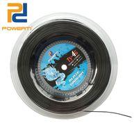 Powerti 1.30mm / 1.25 мм Теннисная строка 4G полиэстера тренировочный ракетка колонна 200м катушки спортивный спорт открытый черный строки 201116