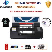 Принтеры Punehod A3-19N Тепловая / метка 3D Сублимационные УФО Многофункциональный лазерный / струйный принтер Цвет футболки печатная машина