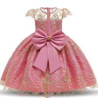 IN Hot-Baby kleidet Spitze-Stickerei-Weihnachtskleid Brautkleid Kinder Kleidung für Kinder Kleider für Mädchen Kinder Zeremonie-Partei