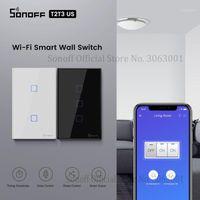 Sonoff T2 / T3 US WiFi Smart Wall Touch Switch avec bordure 1/2/3 Disposition de la télécommande WiFi Commutateurs de lumière WiFi pour Smart Home Automation1