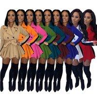 Frauen Anzüge Schlanker Mantel Kontrastfarbe Rock Jacke Gesäß Rock Herbst Winter Halten Warme Langarm Verdickte Damen Beiläufige Kleidung Zyy323