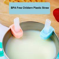 BPA Free Silicone Niños Paja Durable Niños Pajitas de alta calidad Straws Straws Strails Bebé Beber Paja Paja Herramienta
