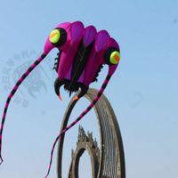 3D 7m² 1 ligne violette Stunt Parafoil trilobites Power Sport Cerf-volant extérieur jouet