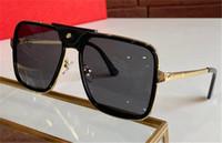 Nuevo diseño de moda Gafas de sol 0263SA Frame de metal cuadrado retro con botón de cuero pequeño Avant-Garde estilo pop de calidad superior UV400 Gafas