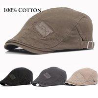 Thefound 2020 Yeni Pamuk Erkekler Bereliler Cap Ayarlanabilir Şapka Erkekler Ivy kovboy şapka Golf Egzersiz Yaz Düz Cabbie Newsboy Caps