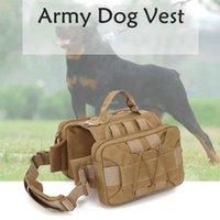 Dog Outdoor cão do serviço Vest Exército Harness Training Vest Durable combate tático coletes de caça com 2 bolsos laterais