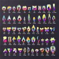 Kristalle Nagel Diamant Aufkleber Stein Strass AB Glas Strass Für 3D Nägel Kunst Dekorationen Liefert Schmuck 76 Arten