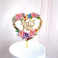 Acrilico decorare la carta amore amore a forma di cuore inserimento torta nuovo adorabile fiore compleanno festa disposizione ornamenti nuovi 3ZW K2