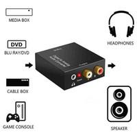 아날로그 오디오 AUX RCA L / R 변환기 SPDIF 디지털 오디오 디코더 앰프에 휴대용 3.5mm의 잭 동축 광섬유 디지털