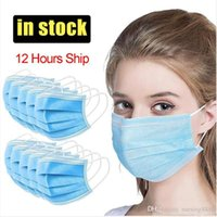 Face In 3 Stock!Disposable Layer Ear- loop Mouth Masks Cover ...