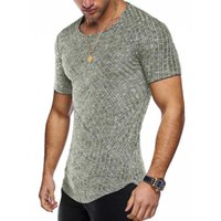 T-shirt da uomo Casual Plain Fitness uomo Fashion Street Wear TEE SHIRTS HOMME Abbigliamento girocollo manica corta 2021