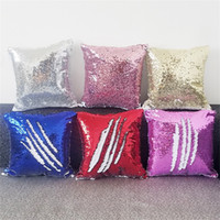 Single Side Pailletten Kissenbezug Multi Farben Sublimationsrohling Wärmeübertragung Druck Magic Kissenkissen Cover 9 9hh L2