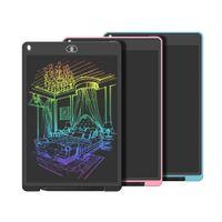 Tablette d'écriture LCD, grande taille, tablette graphique électronique 12 pouces, carton de doodle doodle avec serrure de mémoire pour la maison, école