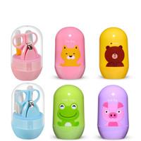 4 unids cuidados de uñas recién nacidos niños infantil bebé recortadora de uñas cortador de cuidado de la salud para dibujos animados niños infantiles recién nacidos niños cuidado de las uñas