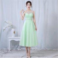 Nane Yeşil Abiye Çay Boyu Tül Sevgiliye Lavanta Tozlu Gül 50 Düğün Balo Parti Elbise altında