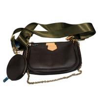 heißen Verkauf neue Handtasche Geldbeutel Frauen Lieblings-Mini Pochette 3pc diagonale vin Schultertaschen Leder Mehrfarbenband Feiertagsgeschenk SLQ201104