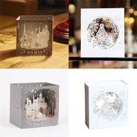 Полые резные приглашения 3D Валентина дерево коробка снежинки умирает конверт лазерная резка праздник приглашение подарок ручной работы1