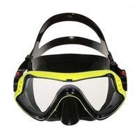 Masques de plongée Hommes Femmes Protection anti-brouillard Single Fenêtre Masque Snorkeling Scuba Pays1