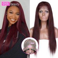 99J Peluca delantera de encaje Pelucas de cabello humano Pelucas de pelo humano de color negro para mujeres negras 13x4 Cordón delantero de encaje Cierre