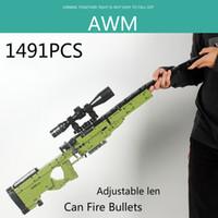 جديد 1491 قطع aom قناص بندقية بندقية نموذج اللبنات تكنيك البنادق الطوب الحانة العسكرية سوات سلاح اللعب C1115