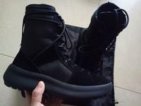 2020 Nowy Dobra Jakość Kanye High Bots Best of Bóg Wojskowe Sneakers Hight Army Buty Mężczyźni I Kobiet Marka Buty Martin Buty 38-47