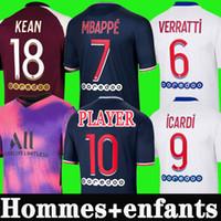Mbappe Icardi Futbol Forması 2020 2021 Maillots De Futbol Gömlek 20 21 Kean Verratti Gömlek Erkekler Çocuklar Üniforma Maillot De Foot Hommes Dördüncü