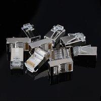 24AWG 26AWG Kablolar için uygundur Gigabit Ağ RJ45 8P8C Cat6 Modüler Fişler Ethernet Kablo Erkek Konnektör 1.1mm Pin Delikler