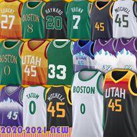 0 Tatum Jayson 45 Mitchell Donovan Jersey Kemba Jaylen Walker Bostons Marcus Rudy Smart Gobert John Karl Stockton Malone Basketball