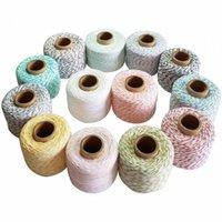 100% 150 Corda di cotone / panettieri rotolo spago macramè corde sottili fili di stringa per confezione regalo decorazione di nozze fai da te 1gUp #
