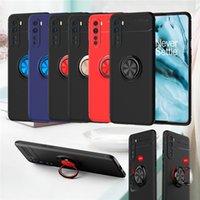 Porte-bague créative Silicon Soft Case pour Oneplus 8Nord 5G Stand de téléphone de voiture de voiture magnétique pour un plus Nord 8 Pro 7T 6T