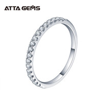 Attagens 925 Sterling Silver Pass Passe Diamond Test Round Excelente corte total 0.27 ct Anel Moissanite para meninas Cocktail Jewelry 210312