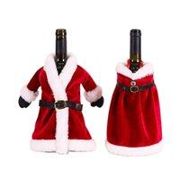 Bottiglia di Buon Natale Dress Skirt Vino coprire le nuove decorazioni di natale per la decorazione domestica Navidad regalo Bag JK2010PH