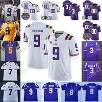 Louisiana State LSU Tiger-Fußball Jersey NCAA Mathieu Burreaux Beckham Jr. Edwards-Helaire Fournette Jefferson Moss Peterson