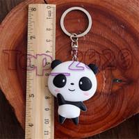 2020 Populär mode vintage llaveros silikon nyckel ring kedja skalhard söt tecknad panda väska hängsmycke nyckelring nyckelring män kvinnor smycken