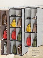 Saklama Kutuları Boins Asılı Organizatör Dolapta Çubuk Ayakkabı Kaddolu Katlanabilir Çanta, Çizmeler Çanta, Aksesuarlar Uzay Tasarruf Raf Tutucu