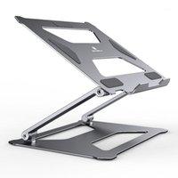 Portátil de aluminio soporta soporte de computadora de expansión plegable ajustable con orificios de enfriamiento para 10-17.3 pulgadas portátil1